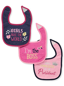 Baby Girls' Boss 3-Pack Bibs by Luvable Friends in Multi - $4.99