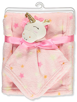 Unicorn Plush Baby Blanket with Toy by Luvable Friends in Multi, Infants