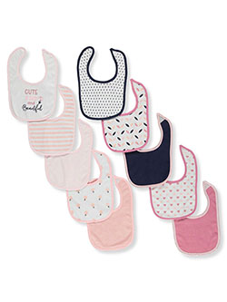 Baby Girls' Beautiful 10-Pack Bibs by Hudson Baby in Multi - $10.99