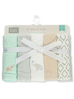 Baby Unisex 10-Pack Terry Washcloths by Hudson Baby in Multi