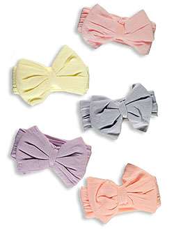 Baby Girls' 5-Pack Bow Headbands by Hudson Baby in Multi
