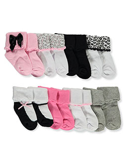 Baby Girls' 8-Pack Foldover Socks by Luvable Friends in Pink/multi