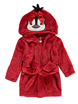 Hudson Penguin Plush Hooded Bathrobe by Hudson Baby in Red