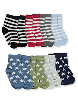 Stripe 8-Pack Ankle Socks by Luvable Friends in Multi