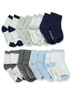Dot Sole 8-Pack Ankle Socks by Luvable Friends in Navy blue