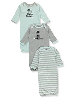 Baby Boys' Bachelor 3-Pack Gowns by Luvable Friends in Multi