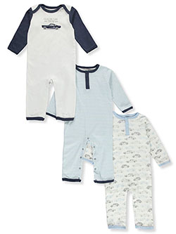 Hudson Car 3-Pack Coveralls by Hudson Baby in Multi