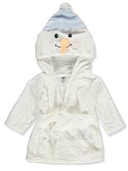 Unisex Baby Snowman Plush Hooded Bathrobe by Hudson Baby in White