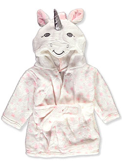 Unicorn Plush Hooded Bathrobe by Luvable Friends in White, Infants