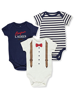 Baby Boys' 3-Pack Bodysuits by Hudson Baby in Multi