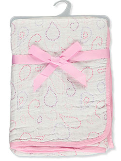 2 Layers Muslin Baby Blanket by Hudson Baby in Multi, Infants