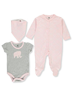 Baby Girls' 3-Piece Layette Set by Hudson Baby in Multi