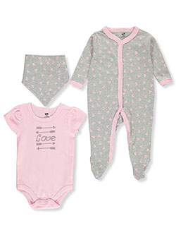 Baby Girls' 3-Piece Layette Set by Hudson Baby in Multi, Infants