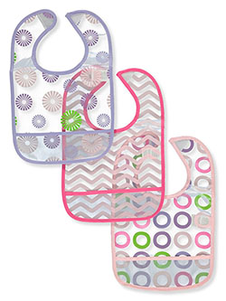 3-Pack Crumb Catcher Bibs by Luvable Friends in Multi