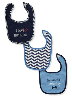 Baby Boys' 3-Pack Bibs by Luvable Friends in Navy - Bibs