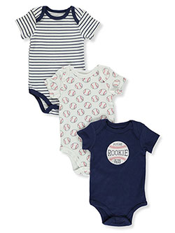 Baby Boys' Baseball 3-Pack Bodysuits by Hudson Baby in Navy