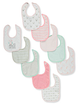 Baby Girls' 10-Pack Baby Bibs by Hudson Baby in White - Bibs