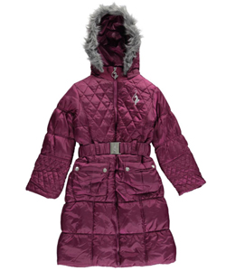 "Baby Phat Little Girls' ""Phat Quilt"" Insulated Parka (Sizes 4 – 6X) - CookiesKids.com"