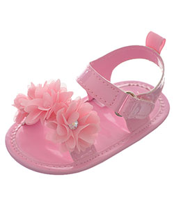 "Stepping Stones Baby Girls' ""Triple Rosette"" Sandal Booties - CookiesKids.com"