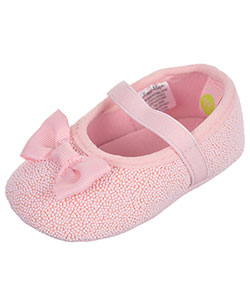 "First Steps by Stepping Stones Baby Girls' ""Bowed Candy"" Ballet Flat Booties - CookiesKids.com"