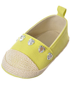 "First Steps by Stepping Stones Baby Girls' ""Heart Gem Espadrille"" Slip-On Booties - CookiesKids.com"
