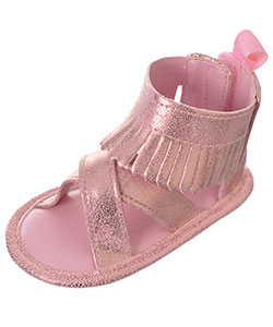"First Steps by Stepping Stones Baby Girls' ""Crisscrossed Fringe"" Sandal Booties - CookiesKids.com"