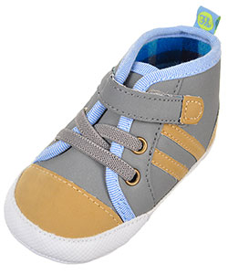 First Steps by Stepping Stones Baby Boys' Sneaker Booties - CookiesKids.com