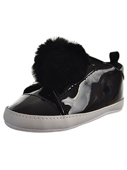 First Steps by Stepping Stones Sneaker Booties by Stepping Stones in Black