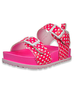 First Steps by Stepping Stones Heart Sandals by Stepping Stones in Hot pink - Sandals