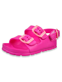 First Steps by Stepping Stones Buckled Sandals by Stepping Stones in Hot pink - Sandals