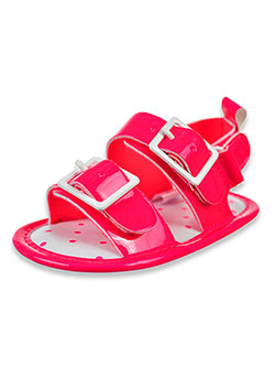 Baby Girls' Pop Sandals by Stepping Stones in Neon pink