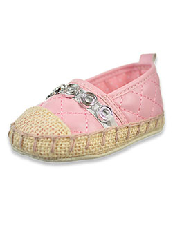 Espadrille Booties by First Steps By Stepping Stones in Cream/pink