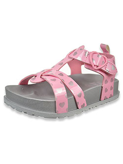 Heart Sandals by First Steps By Stepping Stones in Light pink, Infants
