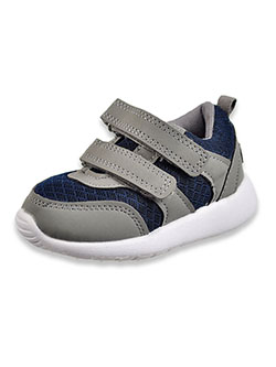 Baby Boys' Double Strap Sneaker Booties by Gerber in Navy/gray, Infants