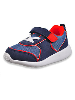 Baby Boys' Single Strap Sneaker Booties by Gerber in Navy/red, Infants