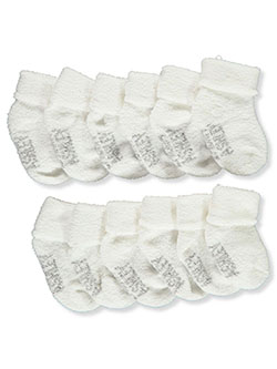 Baby Girls' 6-Pack Terry Socks by Laura Ashley in White