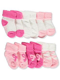Baby Girls' 6-Pack Terry Socks by Laura Ashley in Pink