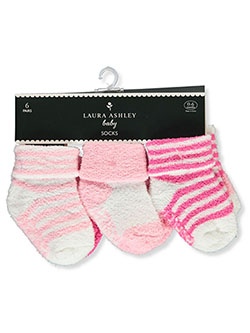 Baby Girls' 6-Pack Terry Socks by Laura Ashley in Multi
