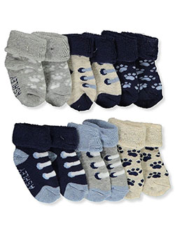 Baby Boys' 6-Pack Foldover Socks by Laura Ashley in Navy/multi