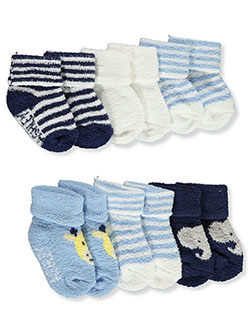Baby Boys' 6-Pack Terry Socks by Laura Ashley in White/multi