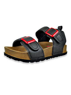 First Steps By Stepping Stones Boys' Strap Sandals by Stepping Stones in Black, Infants