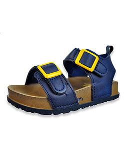 First Steps By Stepping Stones Boys' Strap Sandals by Stepping Stones in Navy, Infants