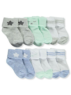 Baby Boys' 6-Pack Cuffed Socks by Koalababy in Gray/blue