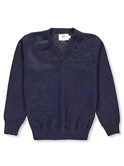 Blueberry Knitting V-Neck Unisex Sweater (Sizes 8 - 20) - CookiesKids.com