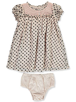 Baby Girls' Whimsy Dress with Diaper Cover by BCBG in Blush