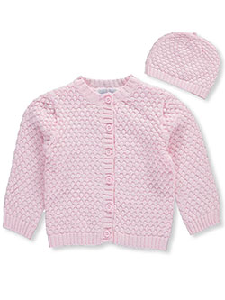 "Baby Girls' ""Patience"" Sweater with Hat by Baby Dove in Pink, Infants"