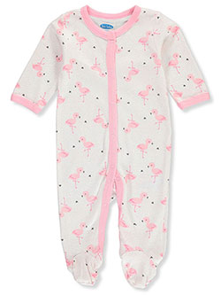 Baby Girls' Flamingo Footed Coverall by Bon Bebe in Multi