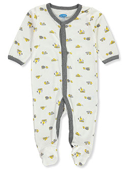 Construction Vehicle Footed Coverall by Bon Bebe in Multi