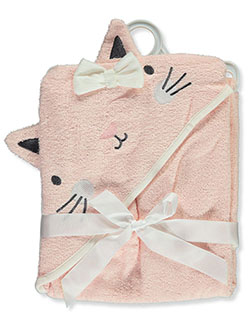 Cat Hooded Bath Towel by Bon Bebe in Pink