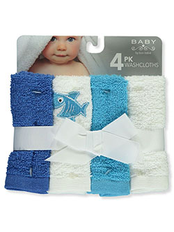 4-Pack Washcloths by Bon Bebe in Blue